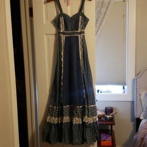 Vintage 70s hippie gunne sax dress